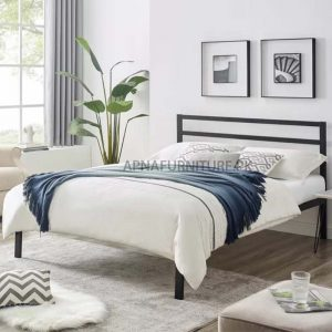simple iron bed