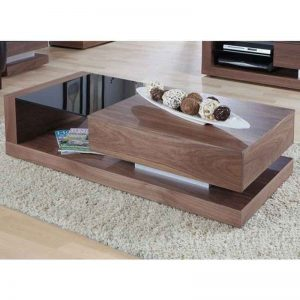 Natural Akhroat Veneer Coffee Table