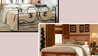 Wrought iron furniture or wooden furniture