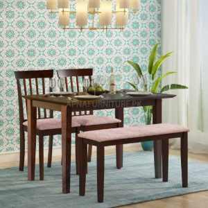 dining table set for four persons