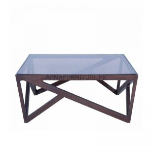 coffee table in square shape and wooden frame