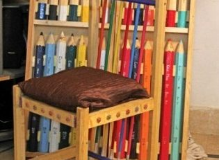 Furniture made of pencils