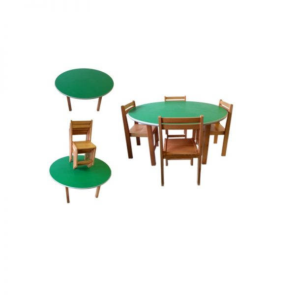 Kids Round Table And Chairs In Stan, Kids Round Table