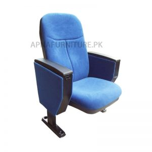 Auditorium Chair in blue color with foldable seat