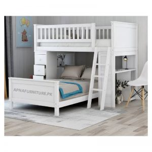Trundle bed with study table