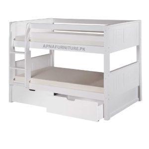 Bunk bed with storage drawers on Apnafurniture.pk